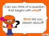 Question Marks - Year 1 (slide 18/54)