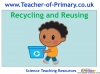 Recycling and Reusing (slide 1/15)