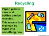 Recycling and Reusing (slide 4/15)