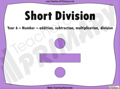 Short Division - Year 6
