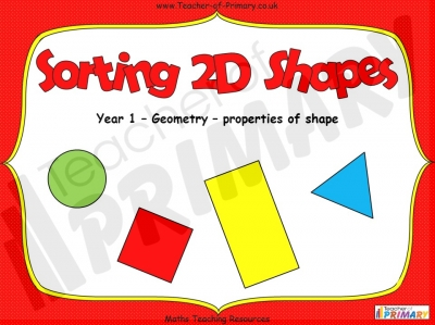 Sorting 2D Shapes - Year 1
