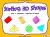 Sorting 3D Shapes - Year 1 (slide 1/26)