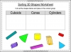 Sorting 3D Shapes - Year 1 (slide 4/26)