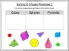 Sorting 3D Shapes - Year 1 (slide 7/26)