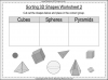Sorting 3D Shapes - Year 1 (slide 8/26)