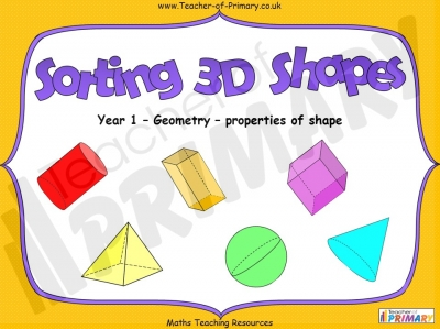 Sorting 3D Shapes - Year 1