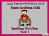 Spellings Dictation Year 1 (slide 1/63)