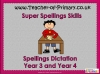 Spellings Dictation Year 3 and Year 4