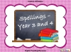 Spellings Year 3 and 4
