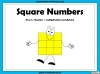 Square Numbers - Year 5 (slide 1/24)