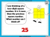 Square Numbers - Year 5 (slide 18/24)