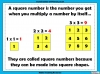 Square Numbers - Year 5 (slide 3/24)