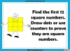 Square Numbers - Year 5 (slide 9/24)