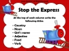 Stop the Express (slide 5/6)
