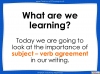 Subject - Verb Agreement - Year 5 and 6 (slide 2/35)