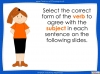 Subject - Verb Agreement - Year 5 and 6 (slide 21/35)