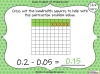 Subtracting Decimals Within 1  - Year 5 (slide 20/39)