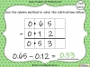 Subtracting Decimals Within 1  - Year 5 (slide 29/39)