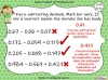 Subtracting Decimals Within 1  - Year 5 (slide 36/39)