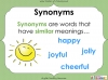 Synonyms - Year 3 and 4 (slide 5/24)
