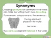 Synonyms - Year 3 and 4 (slide 7/24)