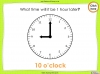 Telling the Time - Year 2 (slide 19/64)