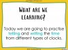 Telling the Time - Year 3 (slide 2/93)