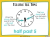 Telling the Time - Year 3 (slide 9/93)