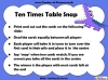 Ten Times Table Snap (slide 17/22)