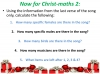 The 12 Days of Christ-maths (slide 6/9)