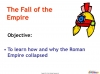 The Fall of the Roman Empire (slide 2/12)
