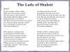 The Lady of Shalott (slide 138/144)