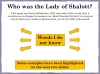 The Lady of Shalott (slide 34/144)