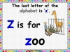 The Letters X Y and Z (slide 13/29)