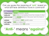 The Prefix 'anti-' - Year 3 and 4 (slide 8/23)