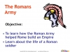 The Roman Army (slide 2/14)