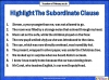 The Subordinate Clause (slide 7/13)