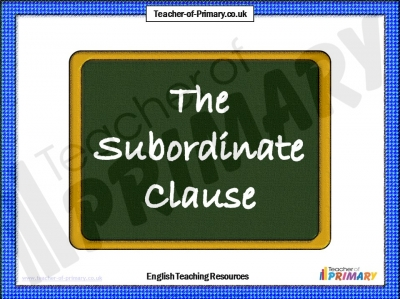 The Subordinate Clause