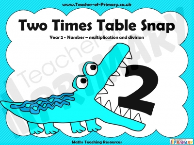 Two Times Table Snap teaching resource