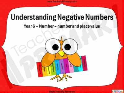 Understanding Negative Numbers - Year 6