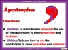 Using the Apostrophe (slide 2/12)