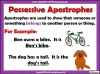 Using the Apostrophe (slide 3/12)