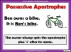Using the Apostrophe (slide 4/12)