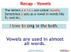 Vowels and Consonants (slide 11/22)