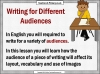 Writing for Different Audiences (slide 3/10)