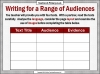 Writing for Different Audiences (slide 9/10)
