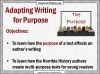Writing for Different Purposes (slide 2/8)