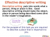 Writing to Describe (slide 15/42)