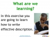 Writing to Describe (slide 2/42)