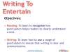 Writing to Entertain (slide 2/149)